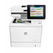 HP Color LaserJet Enterprise MFP M577f Up to 40 ppm print/copy 8 touch screen 7 sec FPOT 9 sec sleep FPOT 650 sheets std. input 2300 sheets max fax stapler