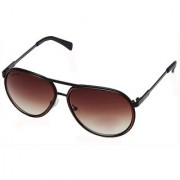 Fastrack Brown UV Protection Aviator Unisex Sunglasses