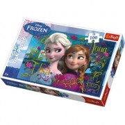 Puzzle Trefl - Anna And Elsa Frozen, 100 piese (16255)