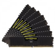 Memorie Corsair Vengeance LPX Black 64GB (8x8GB) DDR4 2666MHz 1.2V CL16 Dual Quad Channel Kit, CMK64GX4M8A2666C16