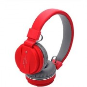 SH12 Bluetooth headphone with SD Card Slot/ with music and calling controls Headset with Mic - RED