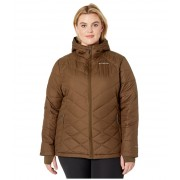 Columbia Plus Size Heavenly Hooded Jacket Olive Green