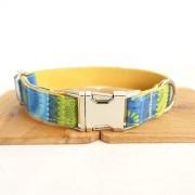 Shefure De diseño Propio Perro árbol de Cuello Poli Raso y Nylon Azul Collares de Perro Verdes y Marrones y Correas en 5 tamaños Perros Correas Sencillas (Color : 3, Size : M)