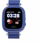 Ceas Smartwatch copii Wonlex GW100 GPS, Touch, cu functie telefon Albastru-Inchis