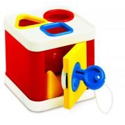 Cutiuta de sortat pentru copii Ambi Toys, cheie, descopera formele geometrice