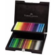 Creioane colorate Acuarela Albrecht Durer, cutie lemn, 72 culori/set Faber-Castell