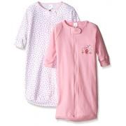 Spasilk Saco de Dormir para bebé recién Nacido, 100% algodón, 9,5 kg, Rosa (2 Piezas), 3 Meses