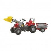 Rolly Junior pedálos markolós traktor utánfutóval