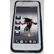 Силиконов гръб ТПУ за HTC J Черен