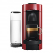 Nespresso VertuoPlus Flat Top Kaffemaskin Cherry Red