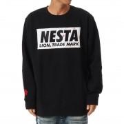 ネスタブランド Nesta Brand スケーター総柄ボックスロゴトレーナー (クロ)