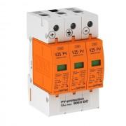 DC túlfeszültség levezető szolár napelemes (PV) rendszerekhez ( cserélhető betétes ) 3 pólus, B+C (T1+T2) fokozatú, távjelzés nélkül, V25-B+C 3-PH900 solar (OBO Bettermann 5097447)
