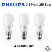 Philips 2.5-Watt B22 Base LED Bulb Set Of 3 Pcs (Cool Day Light)