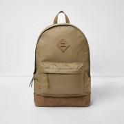 River Island Mens Beige front pocket backpack (One Size)