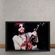 Quadro Decorativo Raul Seixas E Guitarra 25x35