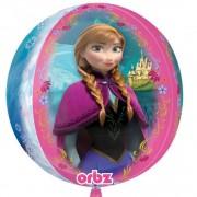 Balon folie sfera orbz Frozen - 38X40cm, Amscan 29816