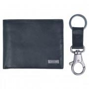 Fossil Kane Gift Set Geldbörse und Schlüsselanhänger Leder 11,5 cm black