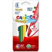 Carioca lavabila CARIOCA Bravo varf gros 6mm 6 culori-cutie