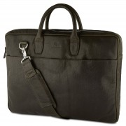 "Lucleon Montreal Slim 17"" Executive Olivgrön Läderväska"
