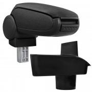 Подлакътник [pro.tec]® Ford Fiesta '09 (MK7) с контейнер за съхранение, Текстил/Черен