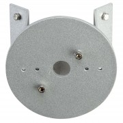 Corner mount for outdoor wall lights, round, alu