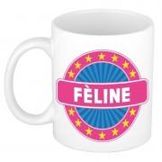 Bellatio Decorations F?line naam koffie mok / beker 300 ml - Naam mokken