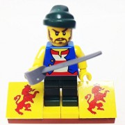 "Minifigure Packs: Lego Pirates Bundle ""(1) Pirate Manuel Pardel Rivero"" ""(1) Figure Display Base"" ""(1) Figure Accessory"""