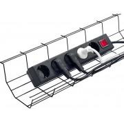 JM Cable Basket Tray Multi. Kabelkorg Svart. Styckpack