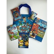 Paw Patrol Sticker Play Gift Set Bundle Pack-Sticker Play Set and Reusable Stickers Giant Pencil and Sharpener 3D Puzzle Eraser Sticker Book Grab Go Gel Pen Stationary Set and Coordinating Tote Bag