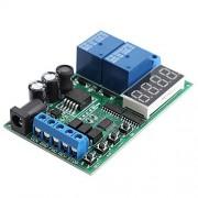 FAMKIT Tablero Controlador de Motor 5V 24V Motor de Avance / Retroceso Controlador Temporización Retardo Ciclos Relé