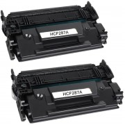 Compatible Toner CF287A voor HP LaserJet Enterprise M506 M506n M506x M506dn,LaserJet MFP M527 - Zwart, 2-Pack