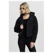 Geaca hooded oversized puffer jacket dama - Urban Classics - NEGRU