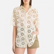 BA&SH Kurzärmelige Bluse mit Stickerei BUSTER