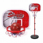 """SZJJX 60"""" Basketball Set Junior Height Adjustable Pro Shooting Hoops Youth Portable Indoor Basketball Goal Hoop Court Stand System Ground Basketball System with Anchor Kit Ball and Pump Kids"""