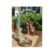 Statuie de bronz clasica Couple on swing
