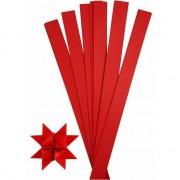 Geen Knutselmateriaal papierstroken rood 73 cm