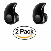 GO SHOPS Mini Ultra-Small Wireless Bluetooth Headset S530 in-Ear V4.0 Stealth Earphone Phone For All Smartphone (2 Pack)