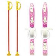 Комплект детски ски 70см. и щеки, MASTER, MASkarC-02-pink