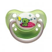 Suzeta ortodontica din silicon 18 luni+ Verde