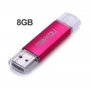 2 En 1 Tamaño Portátil Móvil 8G USB Flash Drive USB 2.0 OTG Micro Pen