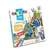 Set articole creative Carioca Create and Color - Elephant 3D