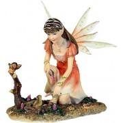 Tündér kismadárral, Curaryse szobor