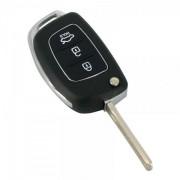 Carcasă cheie tip briceag - 3 butoane - Hyundai