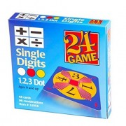 24 Games 24 Game: 48 Card Deck Single Digit cards Math Game - Includes Exclusive Tips Sheet - Master Math Skills