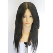 Луксозна фризьорска учебна глава 40см с мигли- 705078