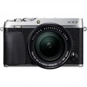 Fujifilm X-E3 Aparat Foto Mirrorless 24MP APSC 4K Kit cu Obiectiv 18-55 F/2.8-4 R LM OIS Argintiu