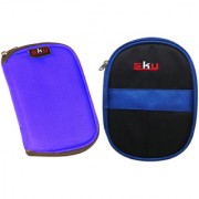 Sky Hard Disk Pouch Combo Lite Blue with Dark Blue