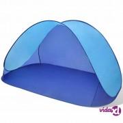 vidaXL Vanjski sklopivi šator za plažu vodootporna svjetlo plava tenda