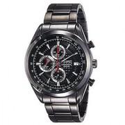 Seiko Quartz Black Dial Mens Watch-SSB179P1