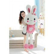 """Judy Dre am Cartoon Animals Plush Rabbit Toys-Judy Dre am Cute Children's Toy PP Cotton Doll Soft Pink/Green Rabbits Toys for Kid 59-"""""""